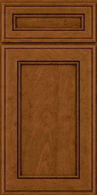 Square Recessed Panel - Veneer (AA6M) Maple in Rye w/Sable Glaze - Base
