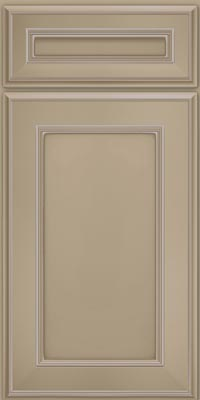 Square Recessed Panel - Veneer (AA6M1) Maple in Willow w/Coconut Glaze - Base