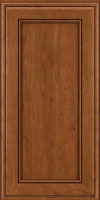 Square Recessed Panel - Veneer (AA6C) Cherry in Antique Chocolate w/Mocha Glaze - Wall