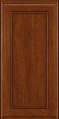 Square Recessed Panel - Veneer (AA6C) Cherry in Autumn Blush - Wall