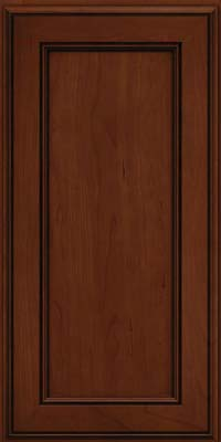 Square Recessed Panel - Veneer (AA6C) Cherry in Autumn Blush w/Onyx Glaze - Wall