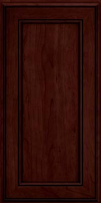 Square Recessed Panel - Veneer (AA6C) Cherry in Cabernet w/Onyx Glaze - Wall