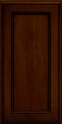 Square Recessed Panel - Veneer (AA6C) Cherry in Chocolate w/Ebony Glaze - Wall