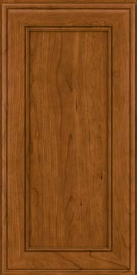 Square Recessed Panel - Veneer (AA6C) Cherry in Golden Lager - Wall
