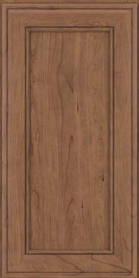Square Recessed Panel - Veneer (AA6C) Cherry in Husk Suede - Wall