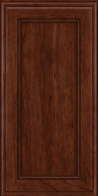 Square Recessed Panel - Veneer (AA6C) Cherry in Kaffe - Wall