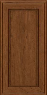 Square Recessed Panel - Veneer (AA6C) Cherry in Rye w/Sable Glaze - Wall