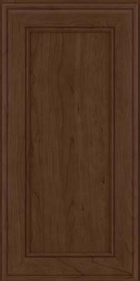 Square Recessed Panel - Veneer (AA6C) Cherry in Saddle Suede - Wall
