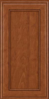 Square Recessed Panel - Veneer (AA6M) Maple in Chestnut - Wall