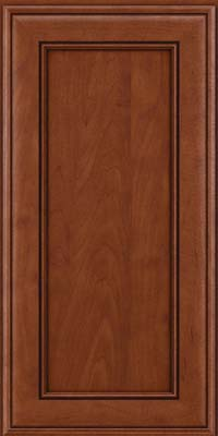 Square Recessed Panel - Veneer (AA6M) Maple in Chestnut w/Onyx Glaze - Wall