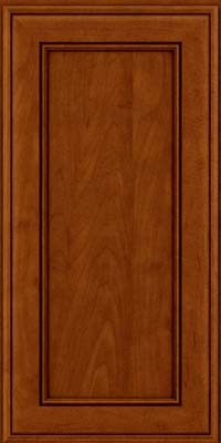 Square Recessed Panel - Veneer (AA6M) Maple in Cinnamon w/Onyx Glaze - Wall