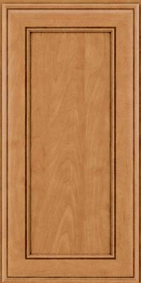Square Recessed Panel - Veneer (AA6M) Maple in Ginger w/Sable Glaze - Wall