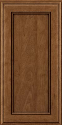 Square Recessed Panel - Veneer (AA6M) Maple in Rye w/Onyx Glaze - Wall