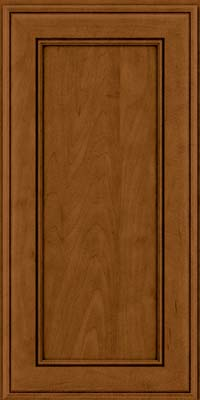 Square Recessed Panel - Veneer (AA6M) Maple in Rye w/Sable Glaze - Wall