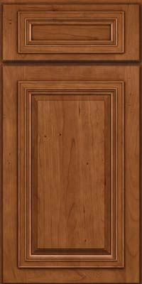 Square Raised Panel - Solid (AA7C) Cherry in Antique Chocolate w/Mocha Glaze - Base