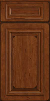 Square Raised Panel - Solid (AA7C) Cherry in Burnished Autumn Blush - Base
