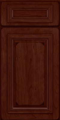 Square Raised Panel - Solid (AA7C) Cherry in Burnished Cabernet - Base