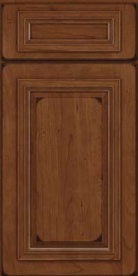 Square Raised Panel - Solid (AA7C) Cherry in Burnished Chocolate - Base