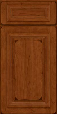 Square Raised Panel - Solid (AA7C) Cherry in Burnished Cinnamon - Base