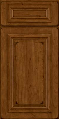 Square Raised Panel - Solid (AA7C) Cherry in Burnished Ginger - Base