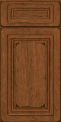 Square Raised Panel - Solid (AA7C) Cherry in Burnished Rye - Base