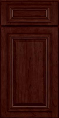 Square Raised Panel - Solid (AA7C) Cherry in Cabernet - Base