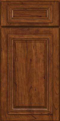 Square Raised Panel - Solid (AA7C) Cherry in Cognac - Base