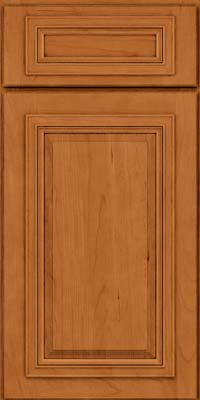 Square Raised Panel - Solid (AA7C) Cherry in Honey Spice - Base