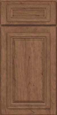 Square Raised Panel - Solid (AA7C) Cherry in Husk Suede - Base