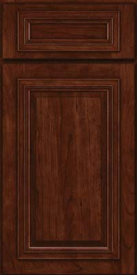 Square Raised Panel - Solid (AA7C) Cherry in Kaffe - Base