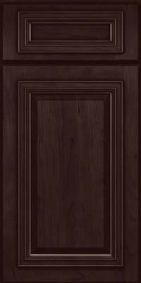 Square Raised Panel - Solid (AA7C) Cherry in Peppercorn - Base