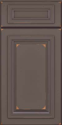 Square Raised Panel - Solid (AA7C) Cherry in Vintage Greyloft - Base