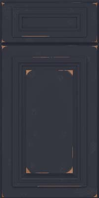 Square Raised Panel - Solid (AA7C) Cherry in Vintage Midnight - Base
