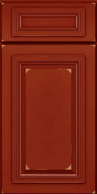 Square Raised Panel - Solid (AA7C) Cherry in Vintage Cardinal - Base