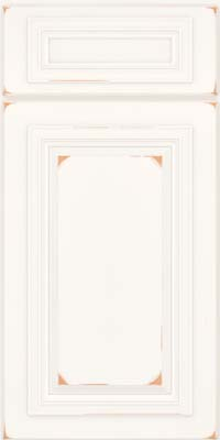Square Raised Panel - Solid (AA7C) Cherry in Vintage Dove White - Base