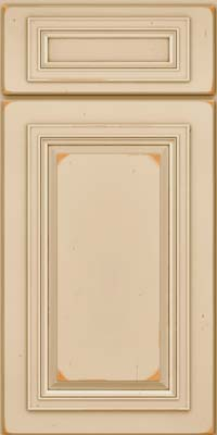 Square Raised Panel - Solid (AA7C) Cherry in Vintage Mushroom - Base