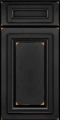 Square Raised Panel - Solid (AA7C) Cherry in Vintage Onyx - Base