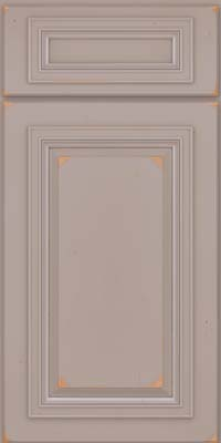 Square Raised Panel - Solid (AA7C) Cherry in Vintage Pebble Grey - Base