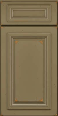 Square Raised Panel - Solid (AA7C) Cherry in Vintage Sage - Base