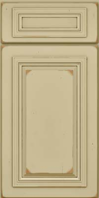Square Raised Panel - Solid (AA7C) Cherry in Vintage Willow w/Cocoa Patina - Base