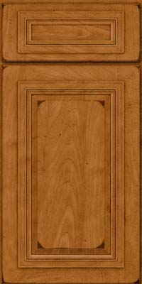 Square Raised Panel - Solid (AA7M) Maple in Burnished Golden Lager - Base