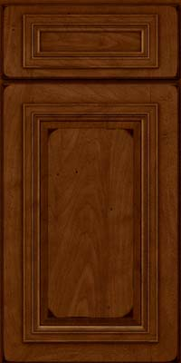 Square Raised Panel - Solid (AA7M) Maple in Burnished Chestnut - Base