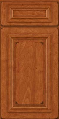 Square Raised Panel - Solid (AA7M) Maple in Burnished Cinnamon - Base
