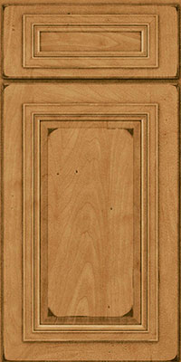 Square Raised Panel - Solid (AA7M) Maple in Burnished Ginger - Base