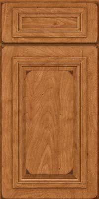 Square Raised Panel - Solid (AA7M) Maple in Burnished Praline - Base