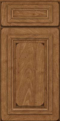 Square Raised Panel - Solid (AA7M) Maple in Burnished Rye - Base