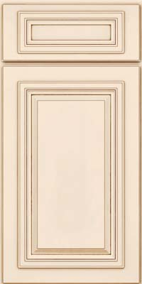 Square Raised Panel - Solid (AA7M) Maple in Canvas w/Cocoa Glaze - Base