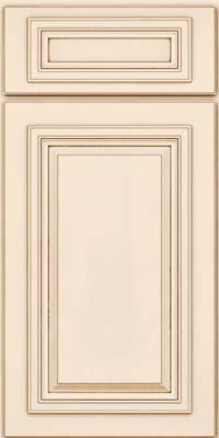 Square Raised Panel - Solid (AA7M) Maple in Canvas w/Cocoa Glaze - Base