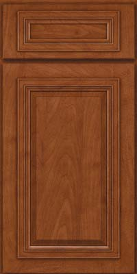 Square Raised Panel - Solid (AA7M) Maple in Chestnut - Base