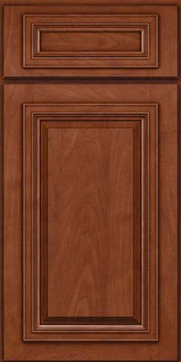 Square Raised Panel - Solid (AA7M) Maple in Chestnut w/Onyx Glaze - Base